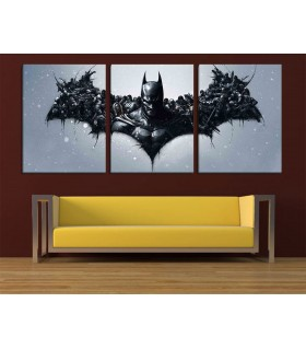 set of 3 dark knight canvas frames